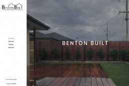 Benton Built Homepage